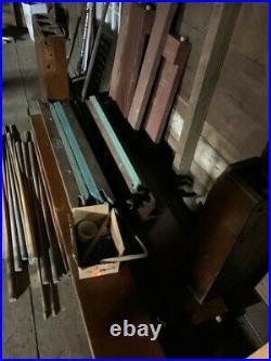 Antique brunswick billiards pool table