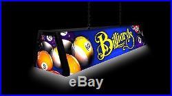 BLUE BILLIARDS, Back lit Pool Table Light Billiard Lamp