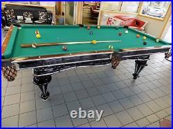 Beautifully restored 1879 C. G. Akam antique Pool/Billiards table