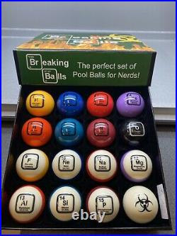 Breaking Balls Periodic Table Billiard Balls Pool Ball Set