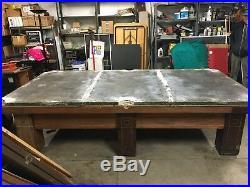 Brunswick 6 Legged Slate Pool Table St. Elmo Model