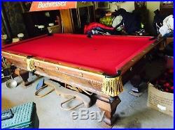 Brunswick 9 ft pool table