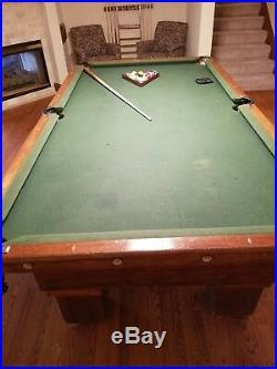Brunswick Antique Pool Table circa 1914 Mission Style 7/10 condition