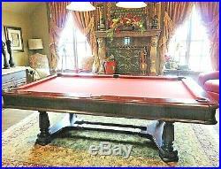 Brunswick Billiards MONTEBELLO Pool Table 8 ft Mahogany Floor Rack & Accessories