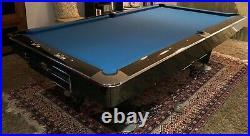 Brunswick Gold Crown 3 Pool Table Black Crown Rare 9 foot Grand Piano Finish