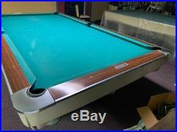 Brunswick Gold Crown I Pool Table 9 FOOT Regulation Size White Billiard Vintage