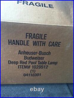 Budweiser Anheuser Busch Bar Pool Table Light NIB Pickup Ft. Springs Ashland Pa