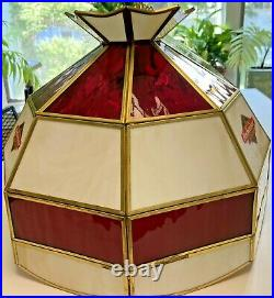Budweiser Clydesdales Bar, Pool Table Light Stained Glass, 3 lamp LOCAL PICK UP