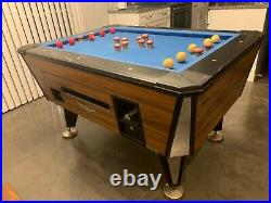 Bumper pool table balls and sticks included