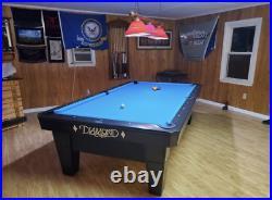 Diamond PRO AM Pool Table 7 Foot (Black)