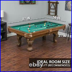 EastPoint Sports Billiard Pool Table with Felt Top Features Durable Material