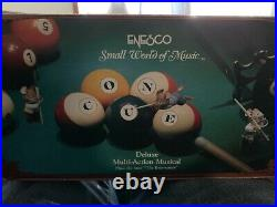 Enesco On Cue -Pool Table Mice- Adorable! Deluxe Multi-Action Musical