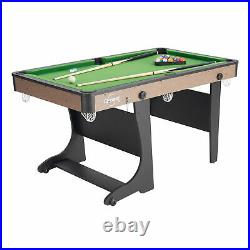 Folding Table Pool 60 Billiard Complete Set Home Indoor Sport Game Room Play