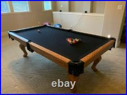 Golden West Pool Table Kamon Model with Carved Legs