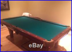 Hardwood Pool Table 8 Feet, 3 Slates. Very good condition. Includes balls & cues