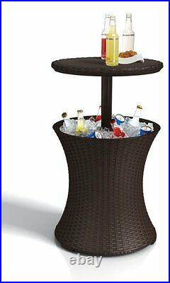 Ice Cooler Bar Table Outdoor Football Tailgate BBQ Pool Deck Man Cave Party