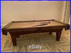 Imperial International Luxury Pool Table 8' Antique Walnut