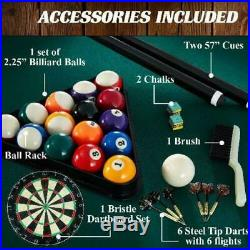 Indoor Sturdy Professional Pool Table Felt Billiard with Free Accessories Play Set