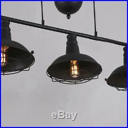 Industrail Style Billiard / Pool Table Island Lights Pulley Cage Pendant Lights