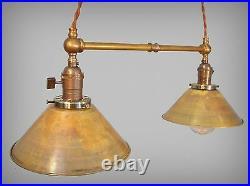 Industrial Lighting Vintage Brass Pendant Lamp Steampunk Lamp Pool Table