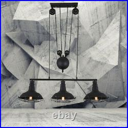 Industrial Retractable Pulley Chandelier Pool Table Kitchen Island Pendant Light