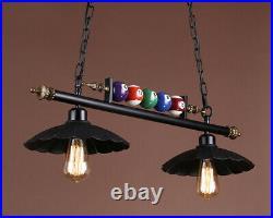 Industrial Retro Ceiling Light Billiard Iron Pool Table Pendant Bar Fixture Lamp