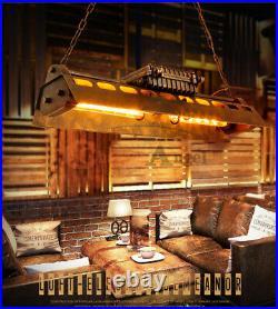 Industrial Steampunk Chandelier Pool Table Ceiling Light Fixture Pendant Lamp