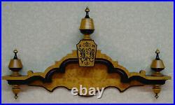 J M Brunswick Balke Collender Antique Pool / Billiards Stepbanner Cue Rack Table