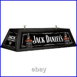 Jack Daniel's Pool Table Light Housing Hardwood Acrylic 42.3in L x 19in W Black