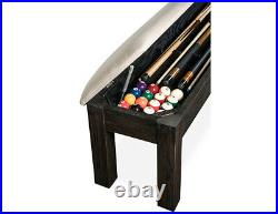 Kariba Pool Table 8' with Dining Top Conversion & 2 Matching Benches FREE Ship