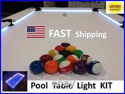 LED Pool & Billiard Table Lighting KIT light your pool cue stick NEW