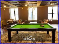 LUXURY CONVERTIBLE DINING POOL TABLE Billiard Desk Fusion TOLEDO Vision 7' size