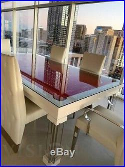 LUXURY CONVERTIBLE DINING POOL TABLE Billiard Dining Desk Fusion MONACO 7' 7 ft