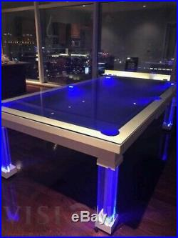 LUXURY CONVERTIBLE DINING POOL TABLE Billiard Dining Desk Fusion MONACO 8' 8 ft