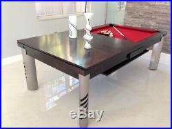 LUXURY CONVERTIBLE DINING POOL TABLE VISION Billiard Desk Fusion MIRAGE 8 ft