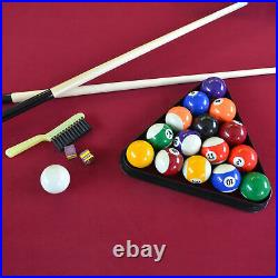 Lancaster Gaming Company 90 Inch Classic Design Pool Table with 2 Cues (Open Box)
