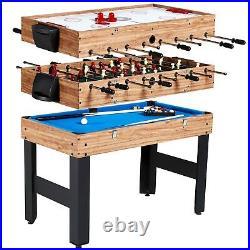 Mini Pool Table Air Hockey Table For Kids Foosball 48 Inch Teen Games Table