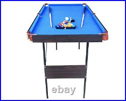 NEW Folding Pool Tables Billiard Table Set Table Top Pool Snooker Garage Games