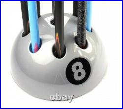 New Giant 8 Ball Cue Rack Stand Snooker Pool Table 9 Cue Various Colour