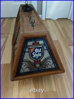 Nice Vintage Heilemans Old Style Beer Pool Table Light Bar Sign
