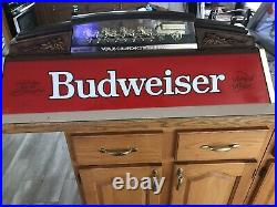 Old Pool Table Budweiser Light In Good Condition