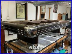 Oversize 8' Brunswick Anniversary Pool Table Antique