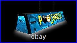 POOL SHARKS, Back lit Pool Table Light Billiards Lamp