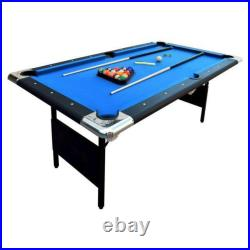 POOL TABLE Portable 6 Foot Folding Billiard Game withAccessories Game Room