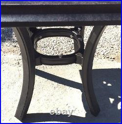 Patio end table 24 square outdoor cast aluminum accent pool side furniture