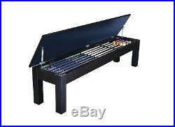 Penelope Pool Table 8' with Dining Top Conversion & 2 Matching Benches FREE Ship