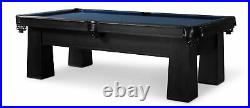 Plank & Hide Carnegie 8 ft Billiards Pool Table with Drawer Black FREE SHIPPING