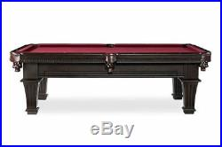 Plank & Hide Talbot 8 ft Billiards Pool Table with Drawer Cocoa