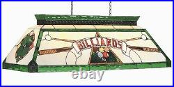Pool Billiard Table Light Stained Glass CF Billiards Green with FREE Shipping