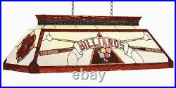 Pool Billiard Table Light Stained Glass CF Billiards Red with FREE Shipping